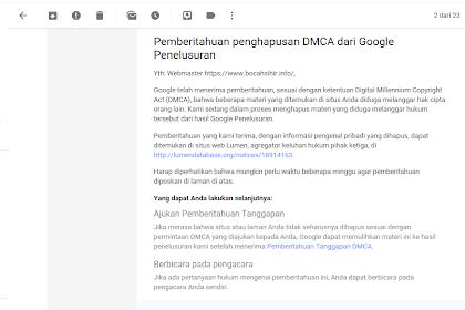 Cara Agar Artikel Yang terkena DMCA Bisa Terindeks Lagi