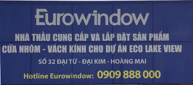 Nhà thầu Eurowindow cung cấp cửa nhôm - vách kính