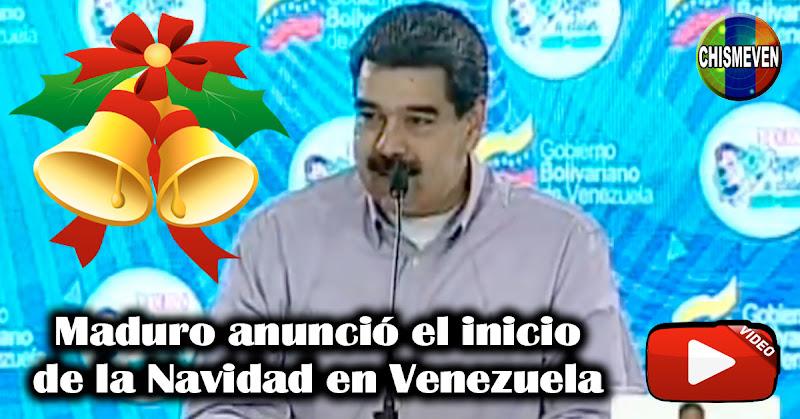 Maduro anunció el inicio de la Navidad en Venezuela