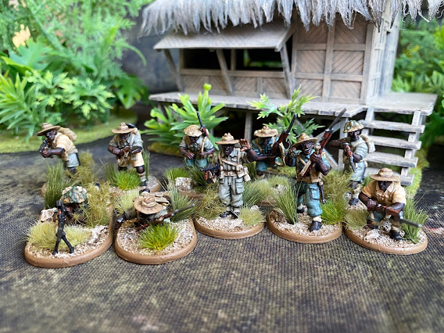 28mm African Troops for Burma from Warlord Games Bolt Action Plastics