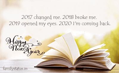 2017 changed me. 2018 broke me. 2019 opened my eyes. 2020 I'm coming back.