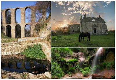 """Città """"fantasma"""" di Monterano, riserva naturale e solfatara – Escursione, trekking storico-naturalistico e visita guidata con guida abilitata"""