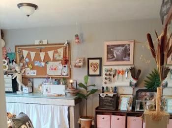 Little Vintage Cottage Craft Studio Makeover