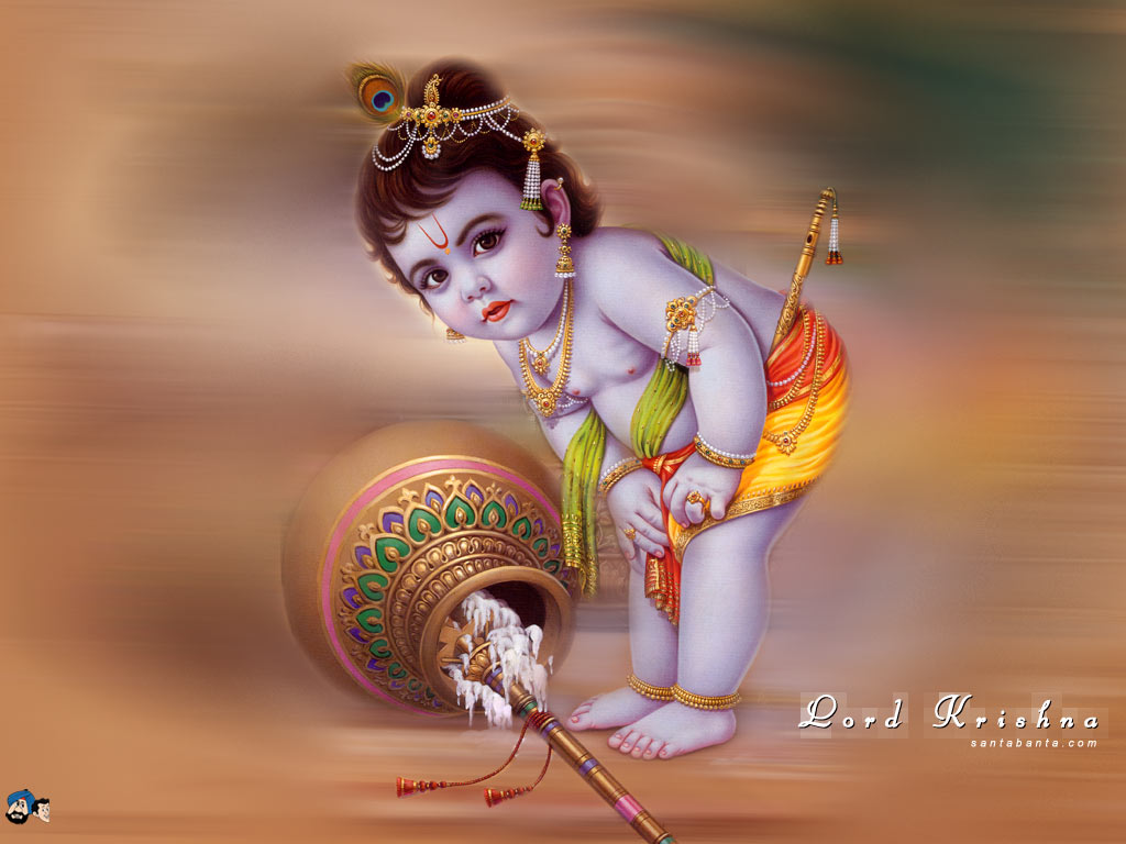 Cute Child Lord Krishna | Images & Wallpapers