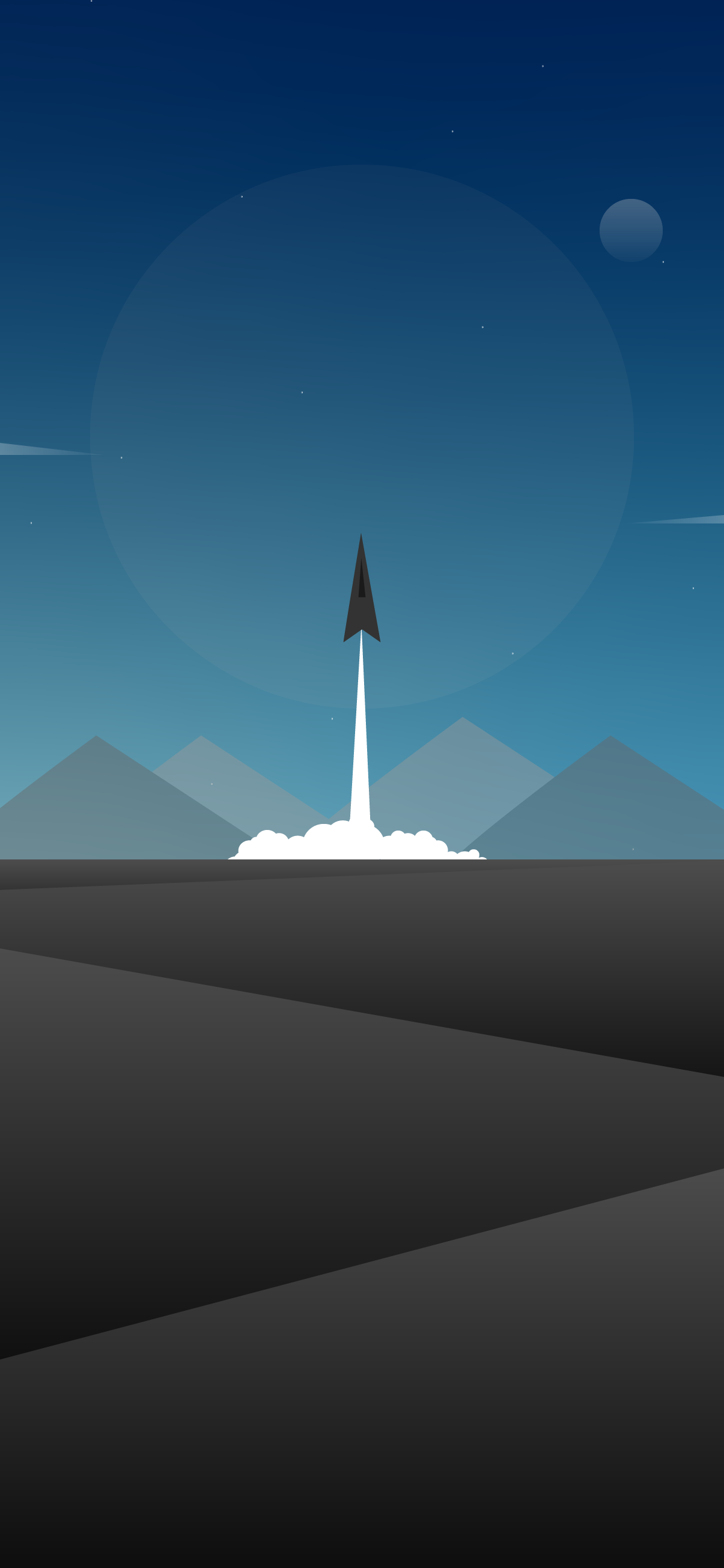 beautiful minimalist and cool wallpaper for mobile phone of a rocket lauch