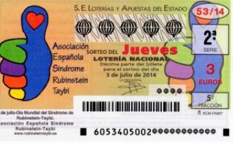 Sorteo de la Lotería Nacional del jueves 3 de julio de 2014
