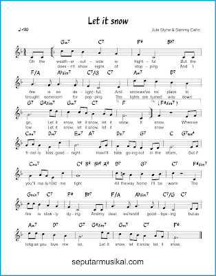 Let It Snow chords jazz standar