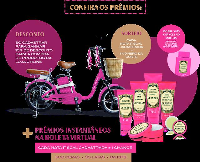 promoção granado pink premios