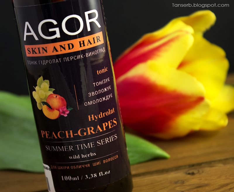 "Гидролат Agor summer time series Peach-Grares ""Персик-Виноград"""