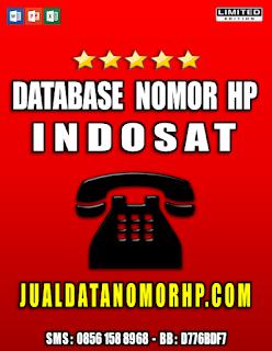 Jual Database Nomor Handphone Khusus Indosat