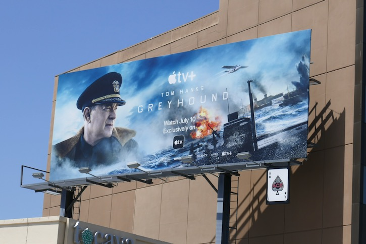Greyhound movie billboard