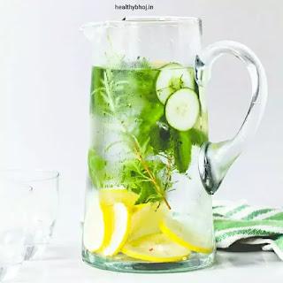 Ramadan cucumber lemon mint water