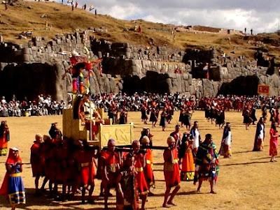 Foto de la fiesta del Inti Raymi en Cuzco