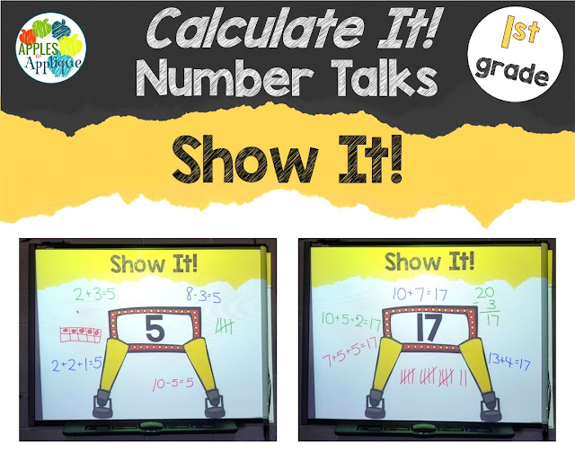 Show It! Number Talks for 1st Grade | Apples to Applique
