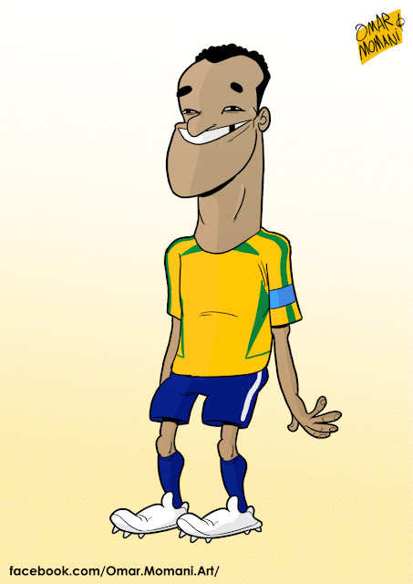 Cafu cartoon caricature
