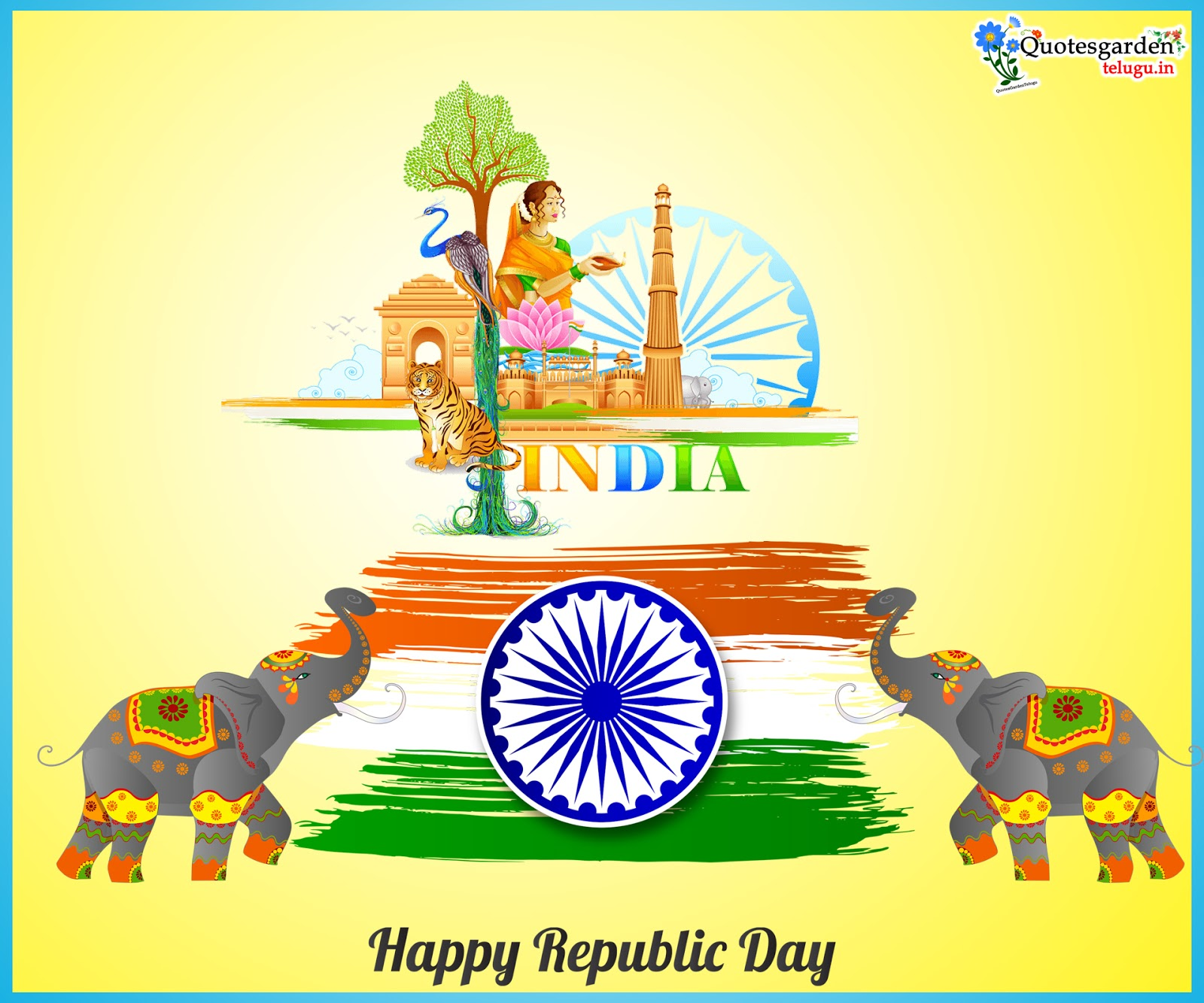 Latest Republic day wishes images png greetings in telugu