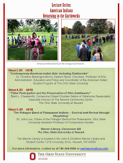 Lecture Series: American Indians Returning to the Earthworks Flyer PDF.