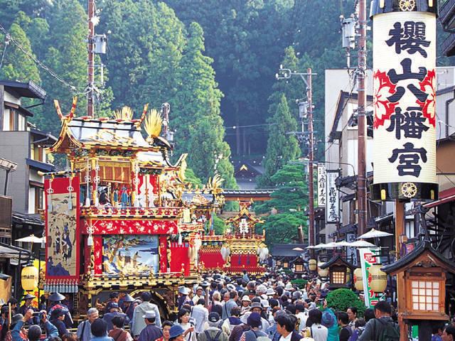 Takayama Matsuri at Hachimangu Shrine in Takayama City, Gifu Pref.
