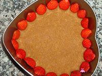 Poniendo fresas en el molde