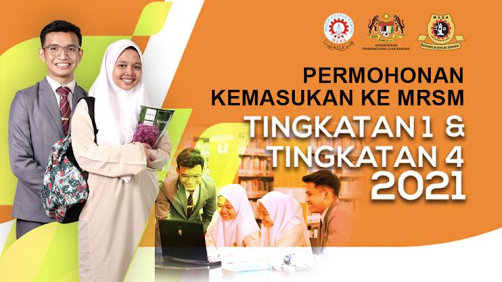 permohonan MRSM 2021 tingkatan 1 tingkatan 4