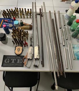 Polícia cumpre mandado de busca e apreensão de armas na cidade de Sossego