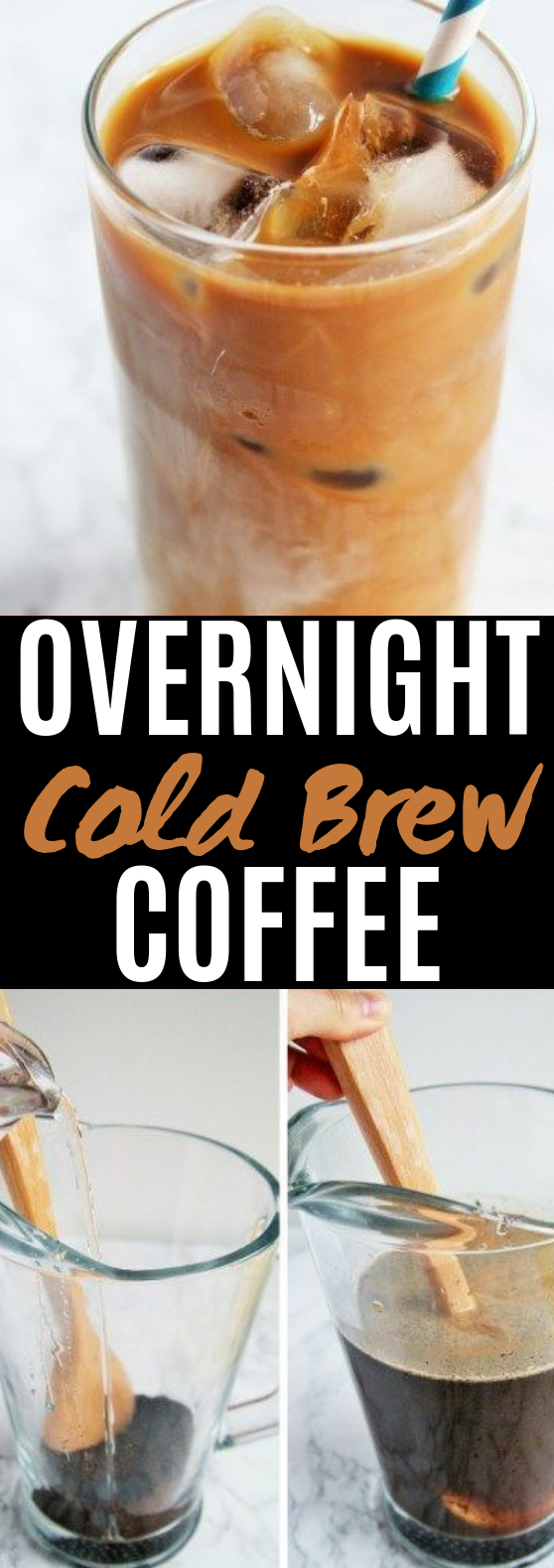 EASIEST OVERNIGHT COLD BREW COFFEE #drinks #coffee