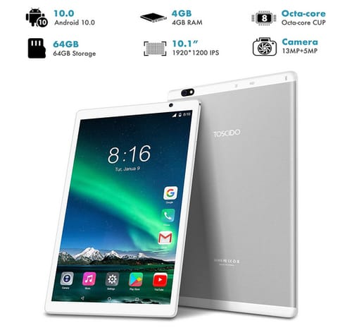 TOSCiDO P101 HD IPS Android 10 inch Tablet