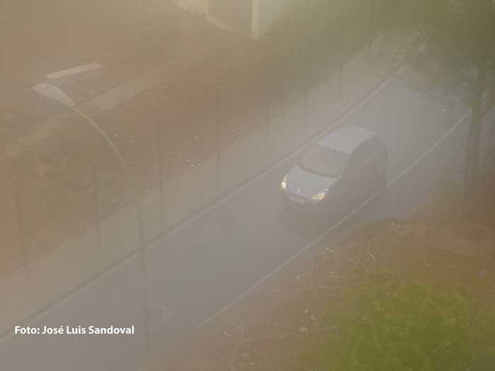 Hoy domingo día 4 de octubre ha amanecido en Gran canaria con bastante niebla
