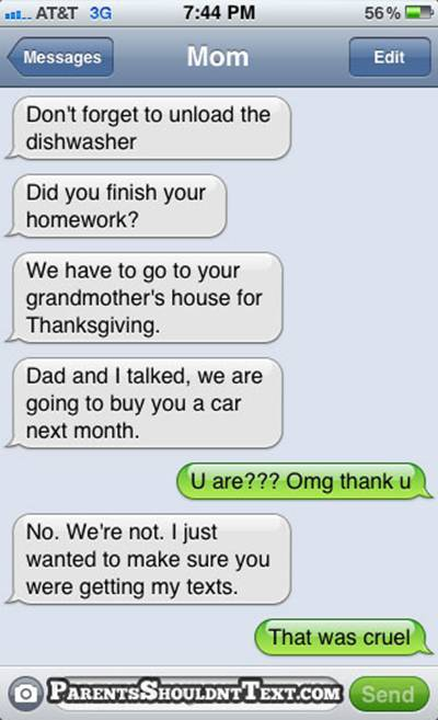 Image result for parents shouldn't text