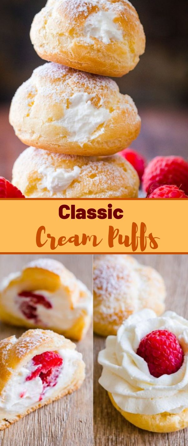 Classic Cream Puffs #Classic #Cream #Puffs Cake Recipes From Scratch, Cake Recipes Easy, Cake Recipes Pound,