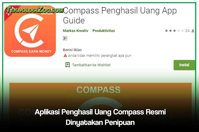 Aplikasi Penghasil Uang Compass Resmi Dinyatakan Penipuan 2021