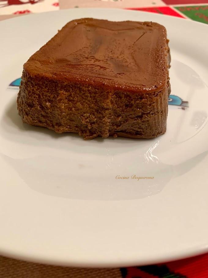 Pudin de boniato asado y chocolate