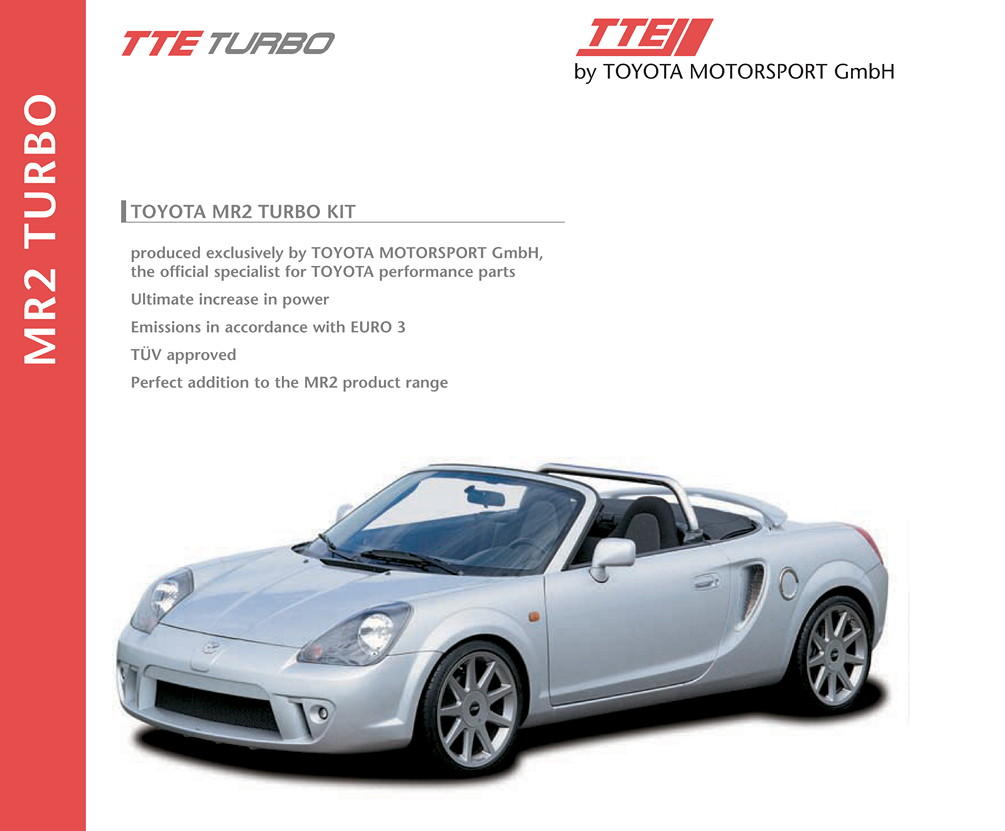 Toyota MR2 TTE Turbo, MR-S, brochure