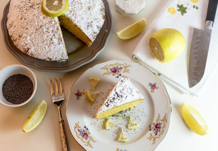 Lemon and Bergamot Scented Yogurt Cake