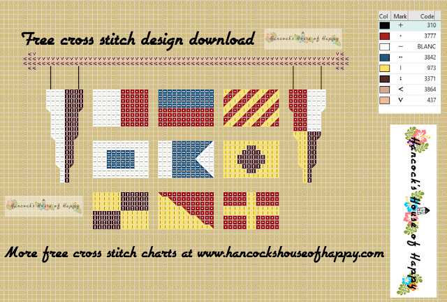 Hey Sailor Random NATO Phonetic Alphabet Flags Cross Stitch Pattern
