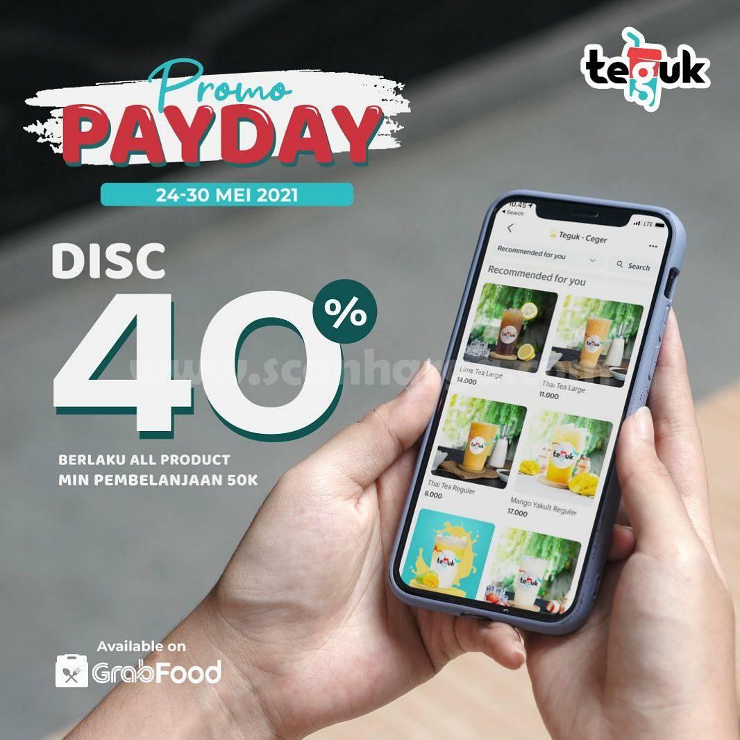 Promo TEGUK PAYDAY Diskon 40% melalui GRABFOOD