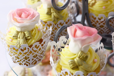 Party cupcakes with roses