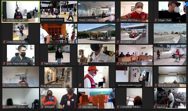 Participan 768 empresas yucatecas en Simulacro Nacional