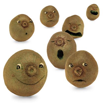 Kiwi Fuzzy Faces