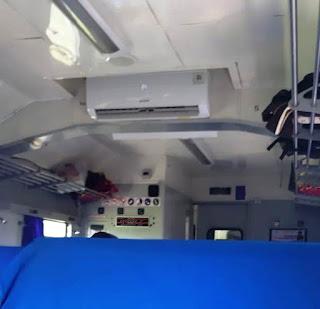 KA Pangrango dilengkapi pendingin udara (AC)