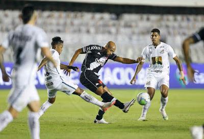 Vasco empata com o Santos pelo placar de 2 a 2