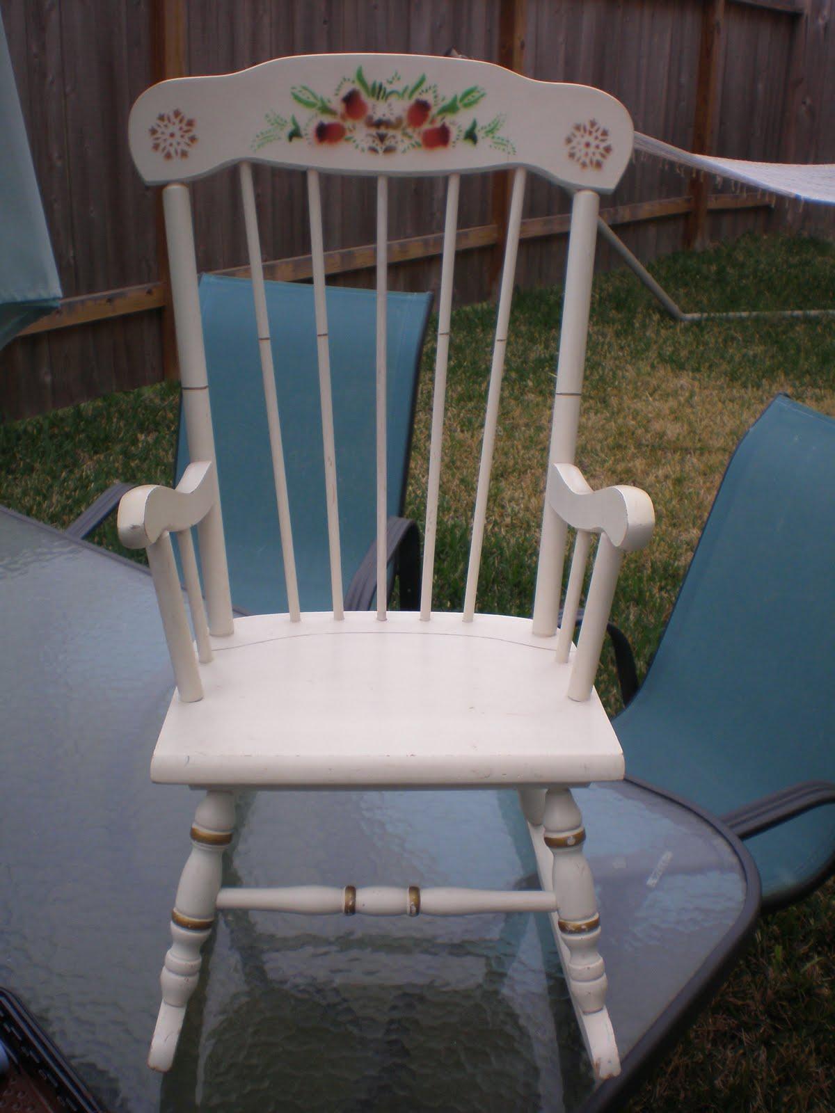 Brown Turquoise Diy Baby Rocking Chair