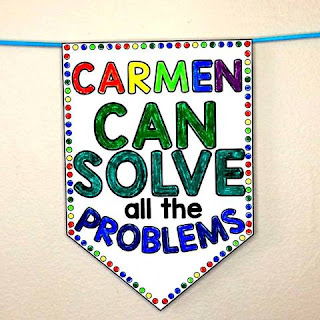 Math Boss pennant for student math confidence