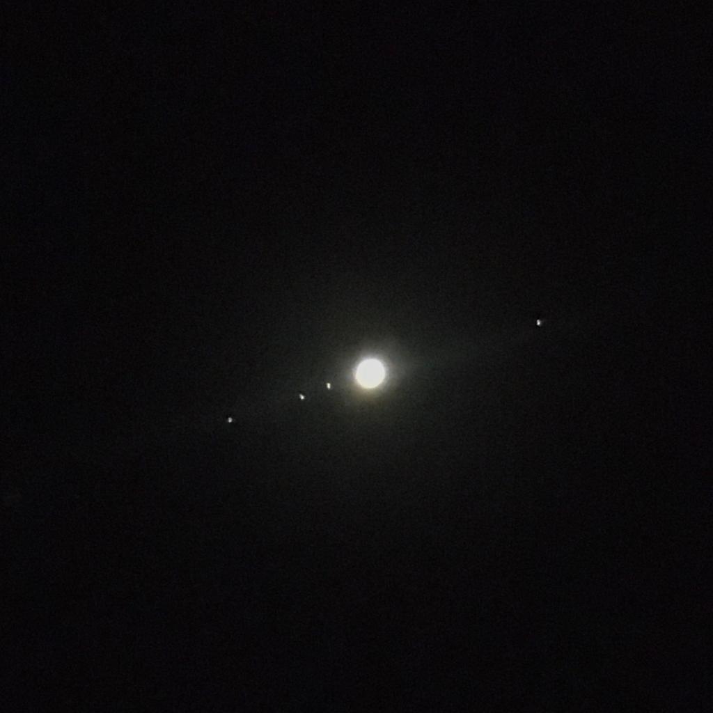 Conjunción satélites cielo Benarrabá AEA Bosque Animado