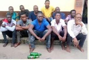Task Force Operatives Arrest 11 MC Oluomo's Boys