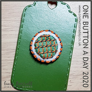 Day 321 : Justin - One Button a Day 2020 by Gina Barrett