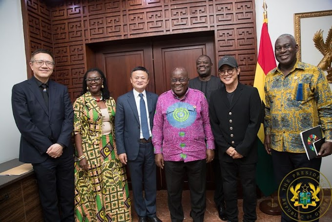 Founder Of Alibaba Jack Ma  and  Jet Li In Ghana to donate to the Youth Entrepreneurship program