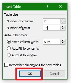 how to insert table in word 2007