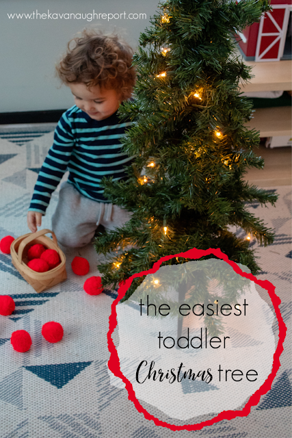The easiest toddler safe Christmas tree ever - a simple DIY