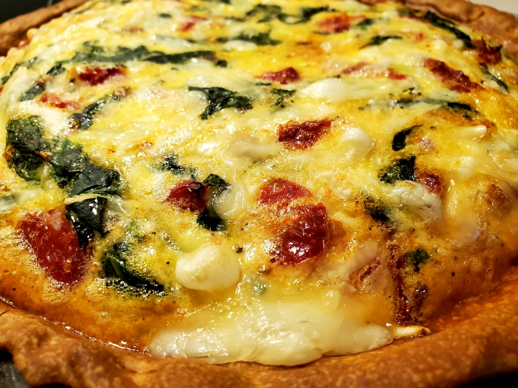 recipe, quiche, spinach, sun-dried tomato, fall, quick recipe, easy recipe